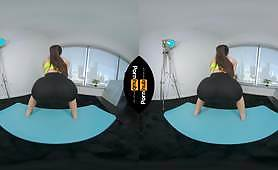 VR 180 - Milana Ricci Working out at Home